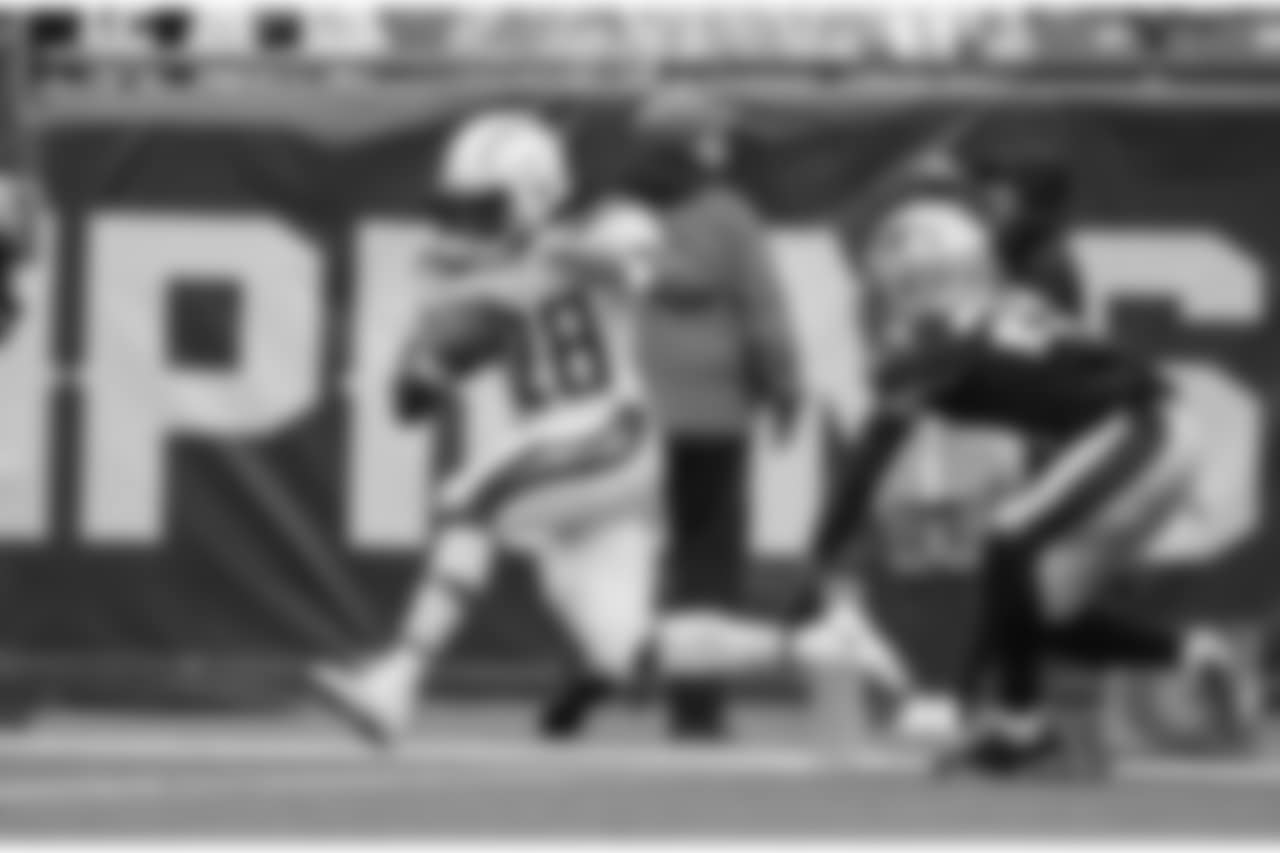 Los Angeles Chargers vs. the New England Patriots at Gillette Stadium on Sunday, Oct. 29, 2017. The Patriots won 21-13.