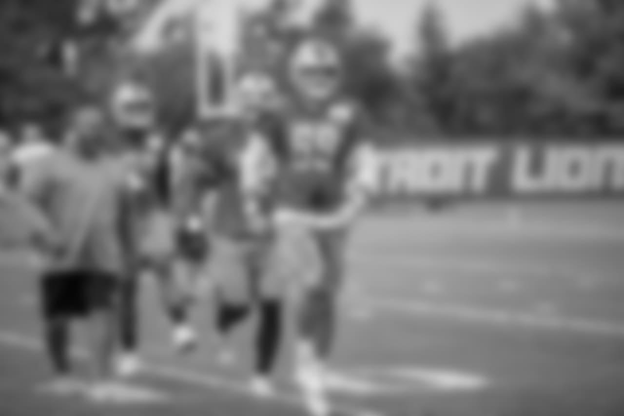 Detroit Lions defensive end Anthony Zettel (69) during training camp practice on Monday, Aug. 6, 2018 in Allen Park, Mich. (Detroit Lions via AP)