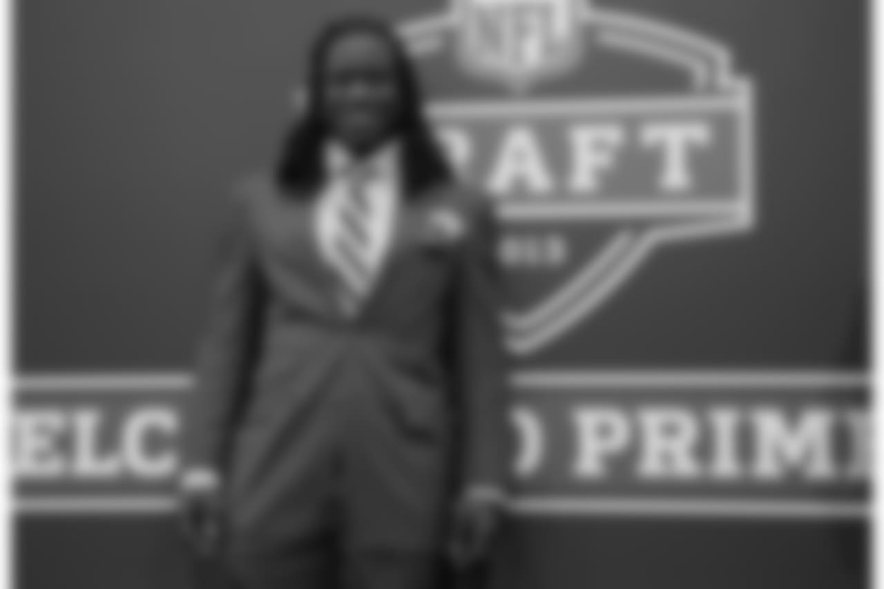 Alabama's Eddie Lacy arrives on the red carpet before the first round of the NFL Draft, Thursday, April 25, 2013 at Radio City Music Hall in New York.(AP Photo/Craig Ruttle)
