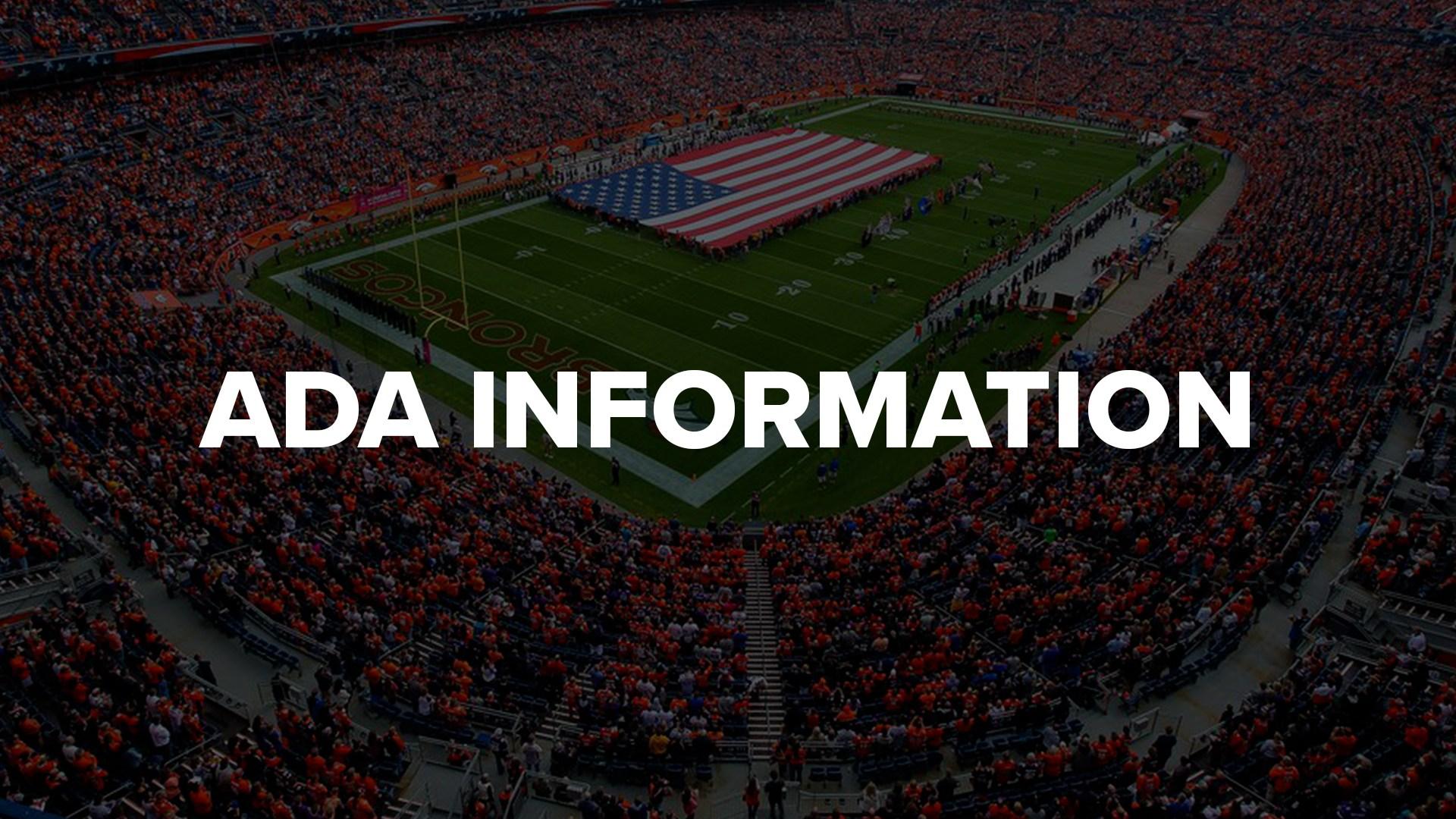 ADA information