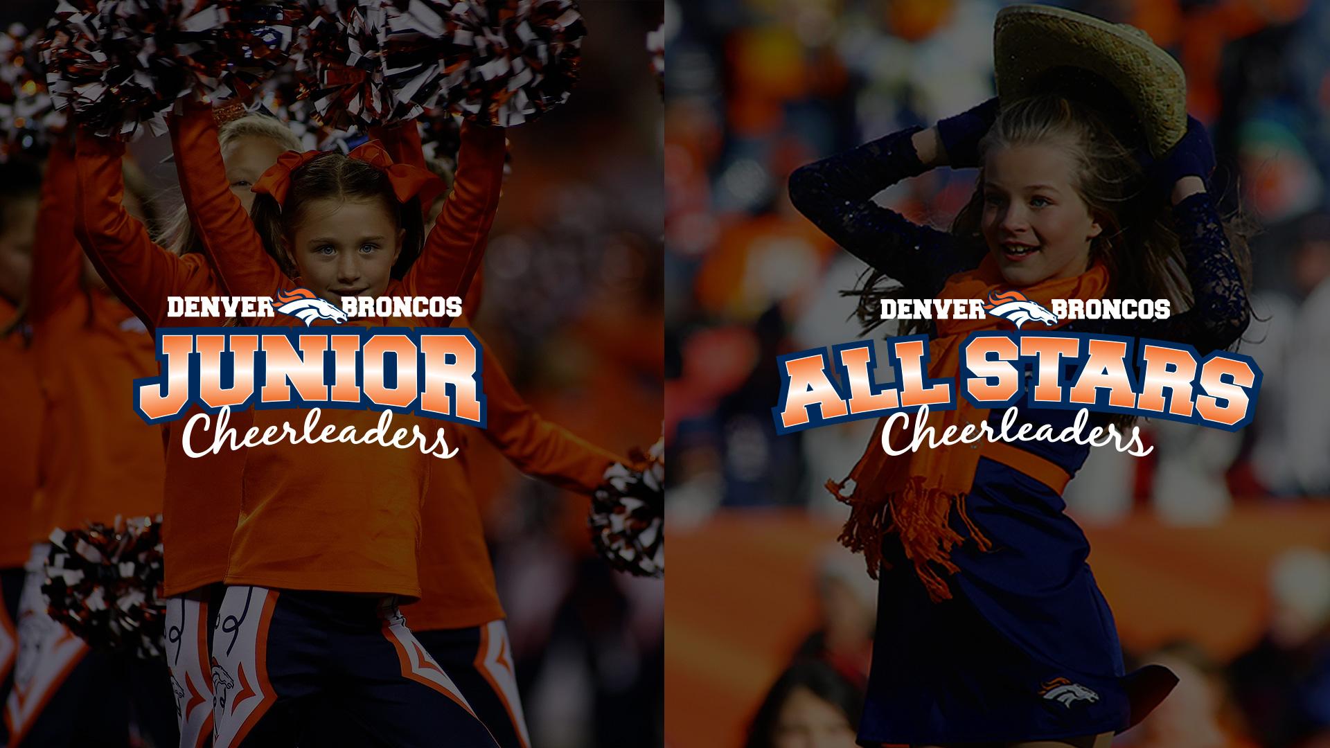 Junior Denver Broncos Cheerleaders and Broncos All Stars