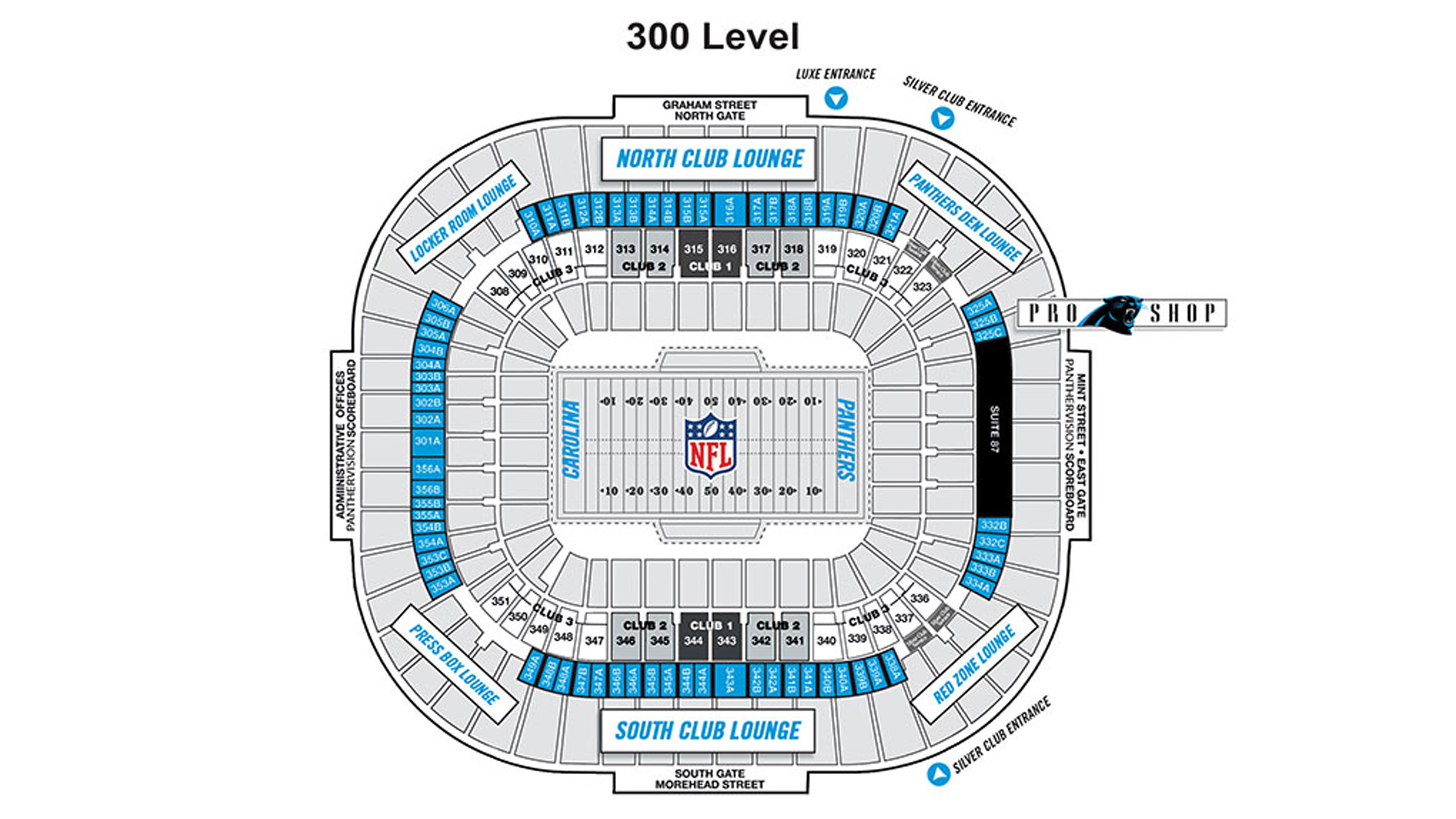 19 New Carolina Panthers Seating Chart with Rows
