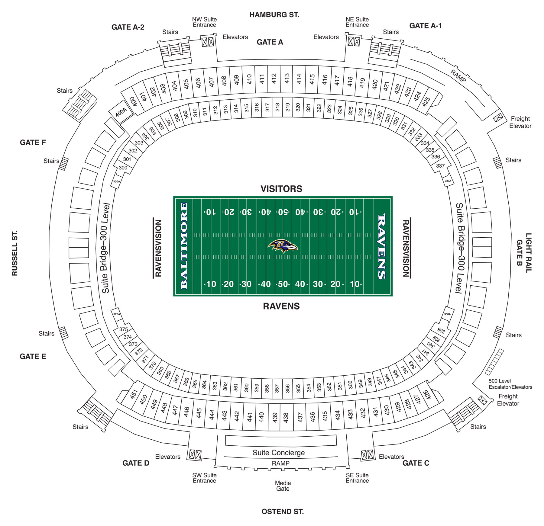 m t bank stadium diagrams baltimore ravens