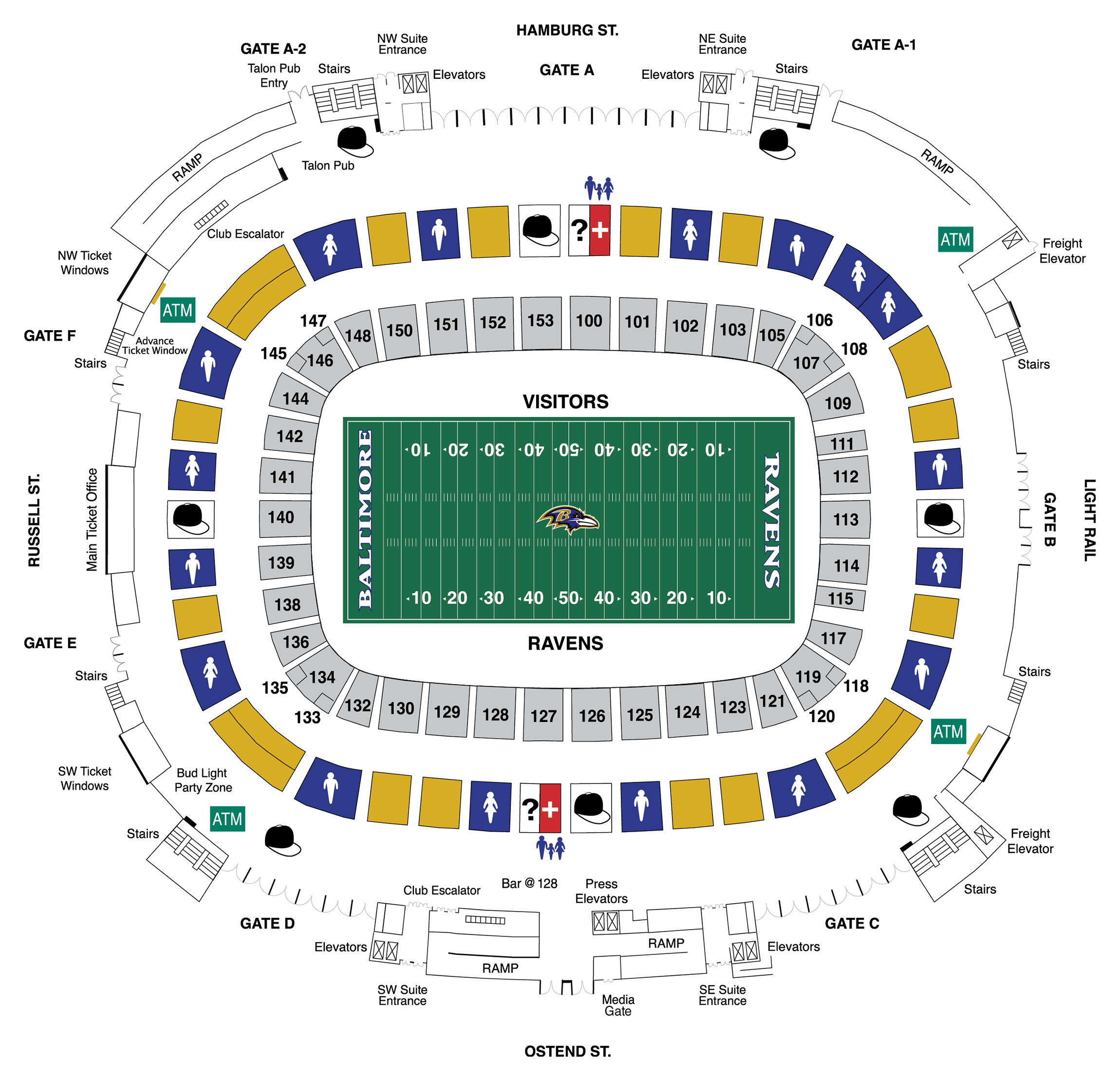 Lower Concourse Diagram