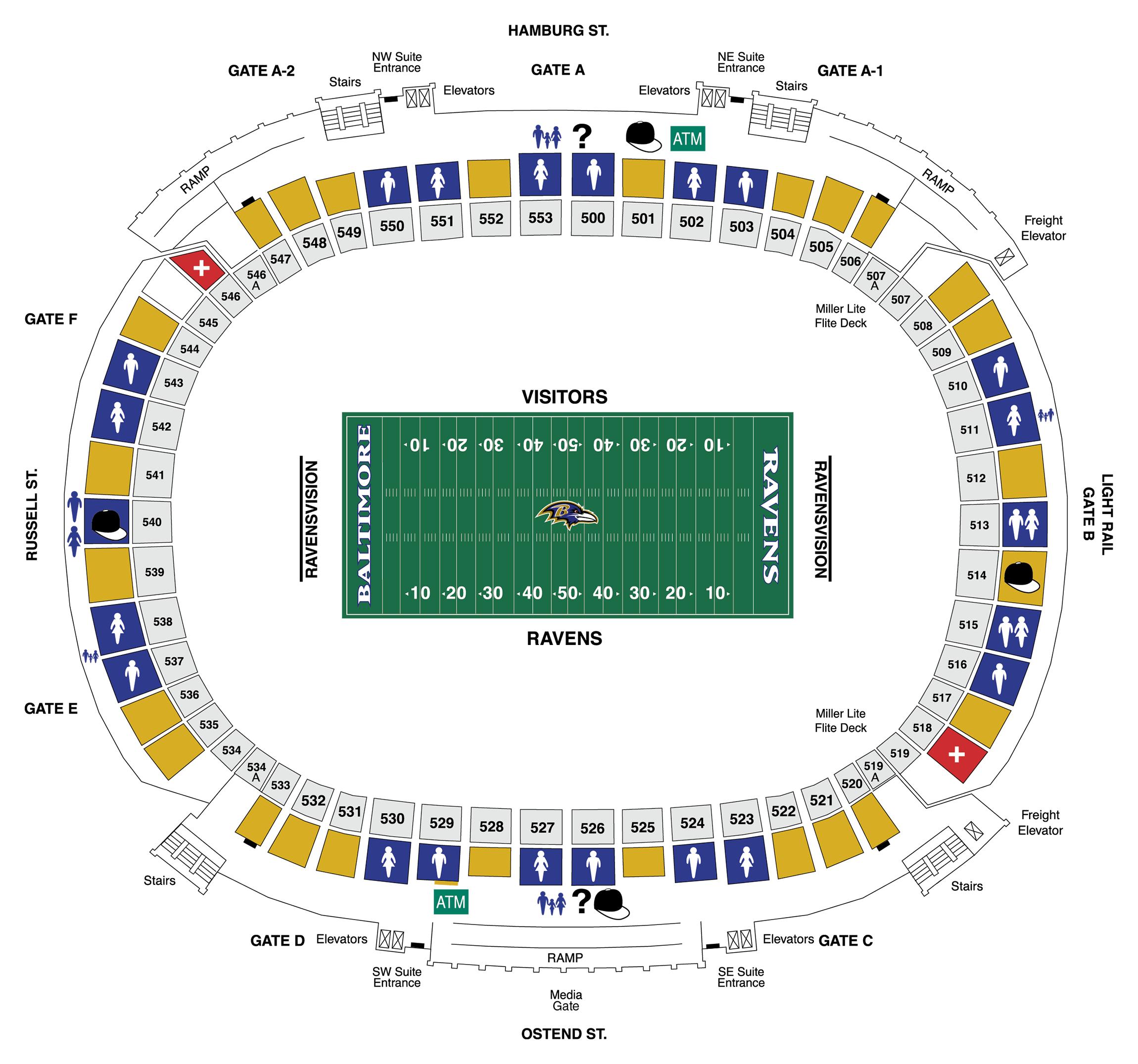 Upper Concourse Diagram