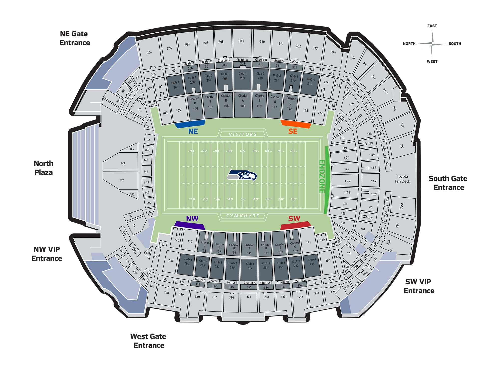 Field Seat Locations