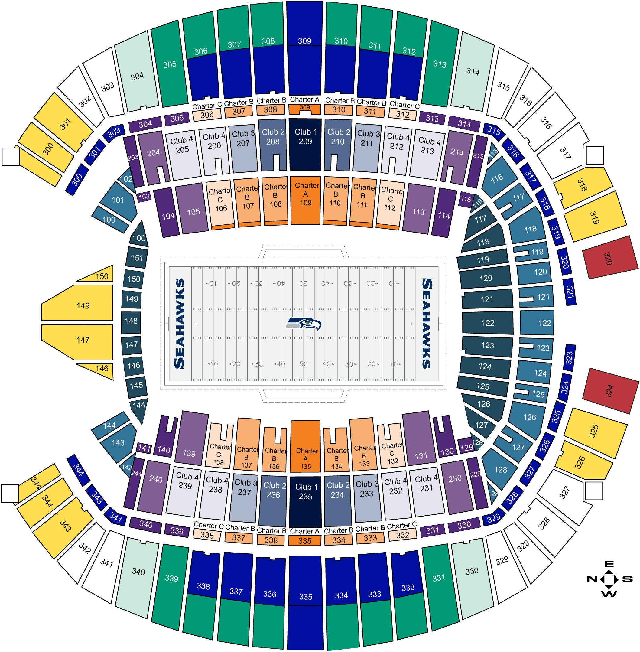 Centurylink Field Map Seattle Seahawks Seating Chart at CenturyLink Field | Seattle  Centurylink Field Map