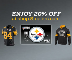 Carry your team everywhere with the Steelers Extra Points Credit Card