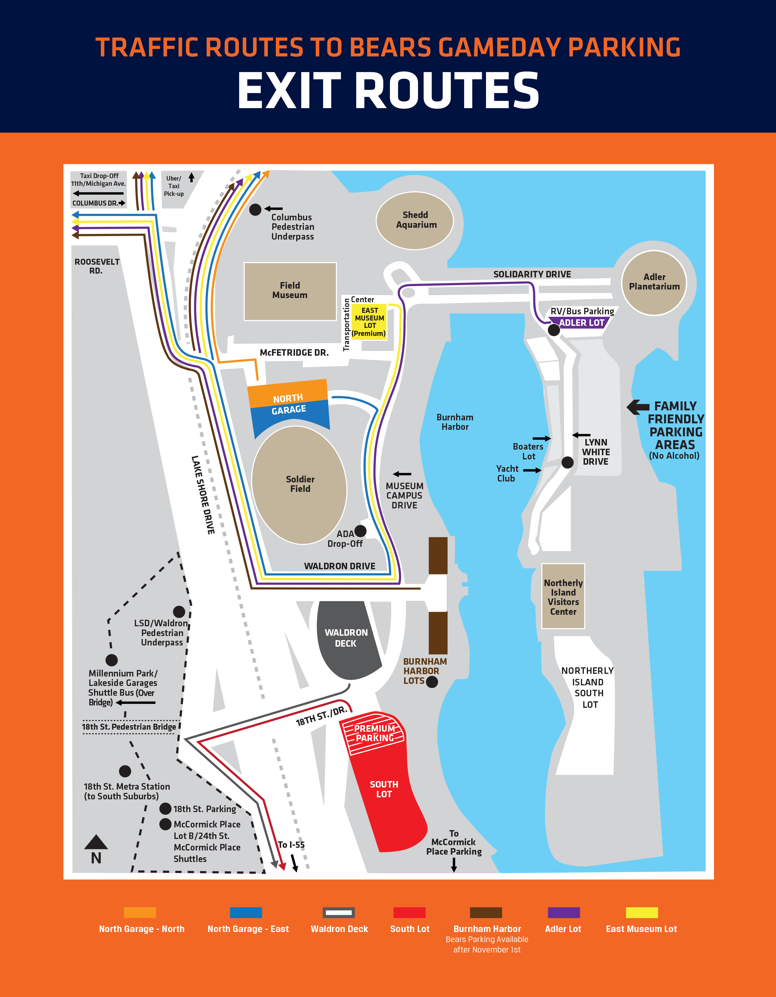 Parking & Transportation Guide | Chicago Bears Official Website on