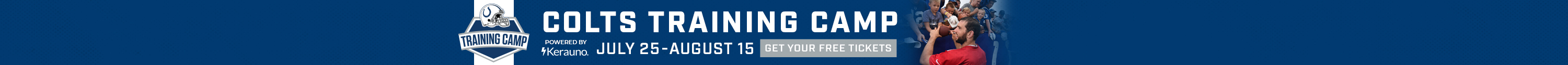 Click here to get your free tickets for Colts Training Camp today!