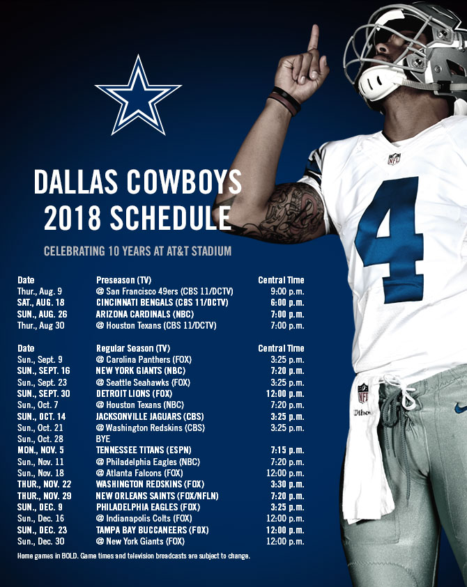 Nfl 2019 schedule dates