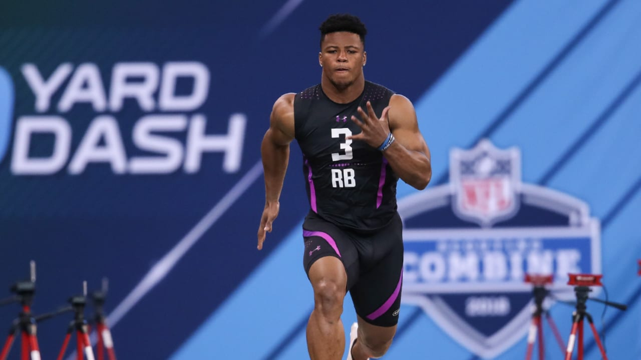 Saquon Barkley Posts Time Of 4 40 Seconds In 40 Yard Dash