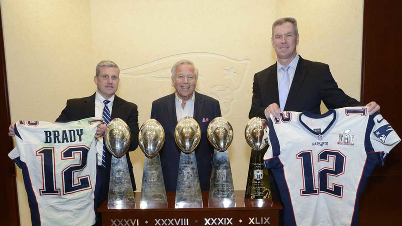 Tom Brady's jerseys are safely returned to Patriot Way