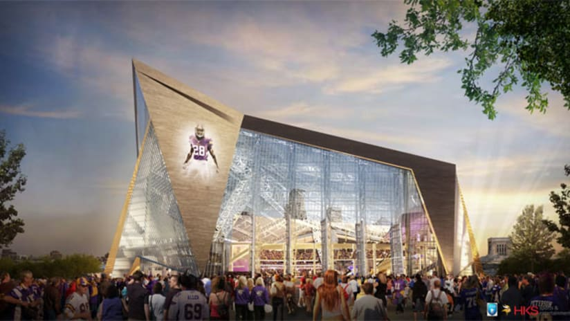 Minnesota Vikings Unveil Images Of New Downtown Stadium