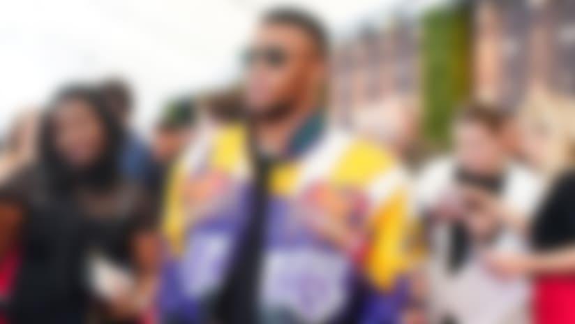 Saquon Barkley rocks Kobe-inspired Lakers jacket on red carpet