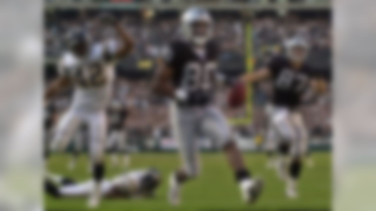 """The Raiders already boasted a talented offense when the team added Rice -- arguably the greatest player in NFL history -- into the mix in 2001. Rice was in the twilight of his glorious career, but still posted two more 1,000-yard receiving seasons to add to his NFL-record 14 such seasons. The move paid huge dividends for the Raiders, who experienced their last seasons of glory while Rice was on the team. In 2001, the Raiders were AFC West champions but lost in the infamous """"Tuck Rule"""" game. In 2002, the Raiders advanced to the Super Bowl, which remains the last playoff game the franchise has played in."""