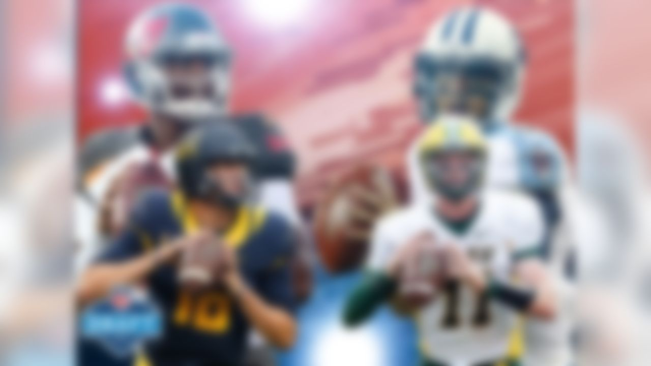 If Jared Goff and Carson Wentz are taken with the first two picks in the draft it will mark only the seventh time quarterbacks have gone 1-2 in the modern draft era (since 1967). You don't have to go back very far for the last time it happened; last year, Jameis Winston and Marcus Mariota were taken with the first two picks. It would be only the second time it has happened in back-to-back years (it also happened in 1998 and 1999).