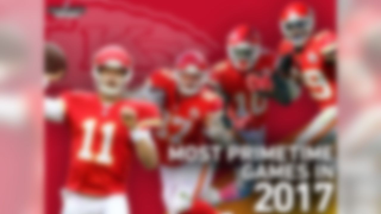 """The Kansas City Chiefs will play the most prime-time games in the league in 2017 (six games), starting with a trip to New England for the kickoff game against the Patriots. The last time the Patriots and Chiefs met in the regular season was Week 4, 2014. The Chiefs won that game 41-14 (the Patriots' second worst loss of the Bill Belichick era), leading to Belichick's, """"On to Cincinnati"""" press conference."""