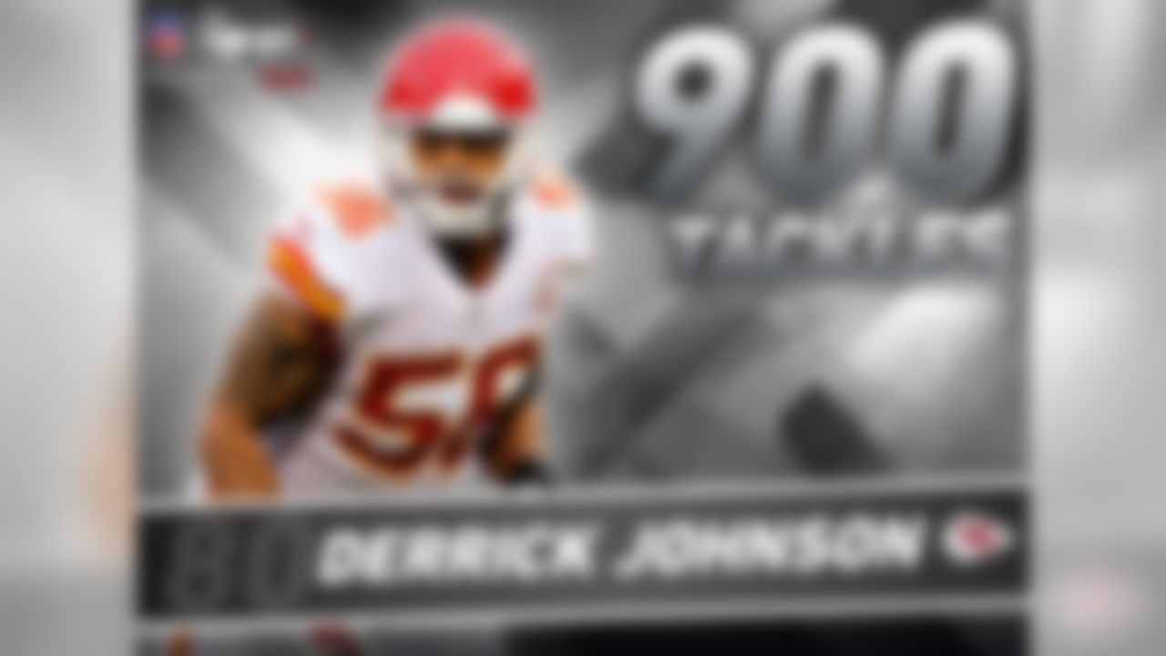 With 12 seasons under his belt, no active player has spent more time with the Chiefs than Derrick Johnson. But longevity is not Johnson's best attribute; it's playmaking. Since entering the NFL in 2005, Johnson is the only player in the league to amass 900 tackles, 20 forced fumbles and 10 interceptions. Johnson's stat-line reads 985-22-13 respectively and oh by the way, he posted those numbers even after missing most of 2014 with a torn Achilles.