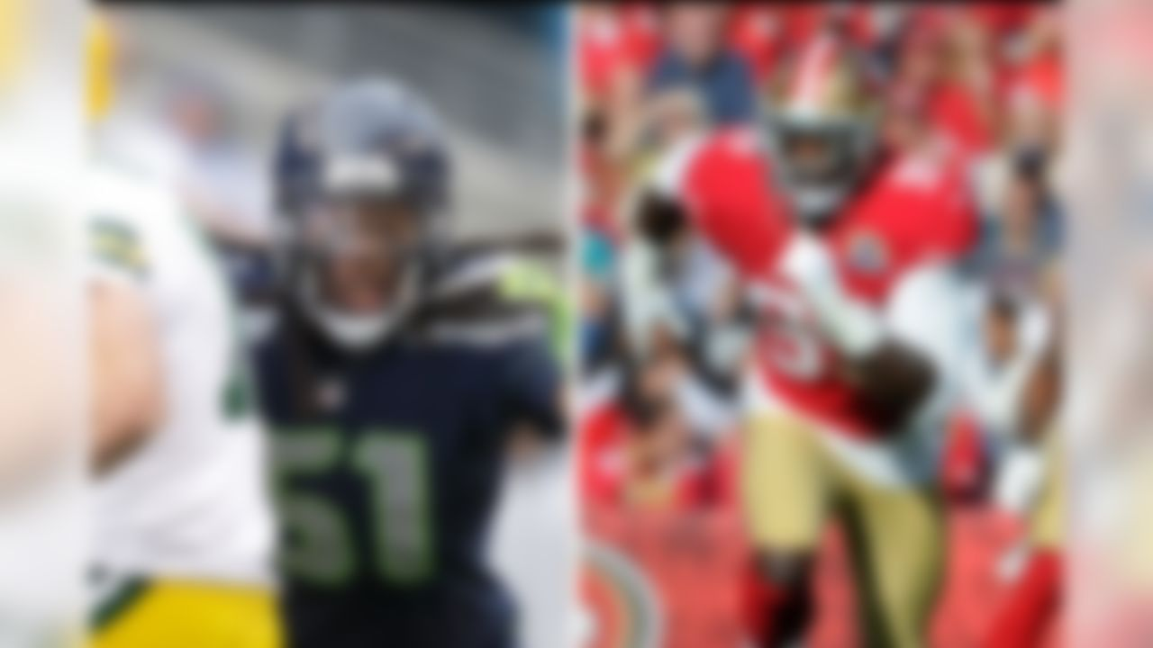 """The San Francisco 49ers-Seattle Seahawks showdown on """"Sunday Night Football"""" features the NFL's two best scoring defenses. Amazingly, the two teams are separated by only one point allowed over 14 games, with the 49ers surrendering 218 points to the Seahawks' 219."""