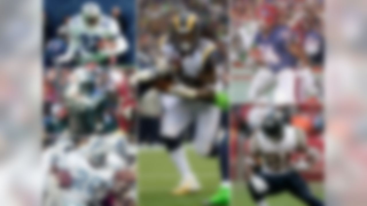 Former Rams RB Steven Jackson has rushed for 1,000+ yards in each of the last eight seasons, the longest current streak in the NFL. In fact, only 3 players have had longer streaks in their career: Emmitt Smith rushed for 1,000 yards in 11 straight seasons, while Curtis Martin and Barry Sanders each did it for 10 straight seasons (Sanders in all 10 seasons of his NFL career). The only other backs in NFL history to do so in eight straight seasons are Thurman Thomas and LaDainian Tomlinson. All five of those players are either in the Hall of Fame or expected to be in Tomlinson's case. Is Jackson as well?