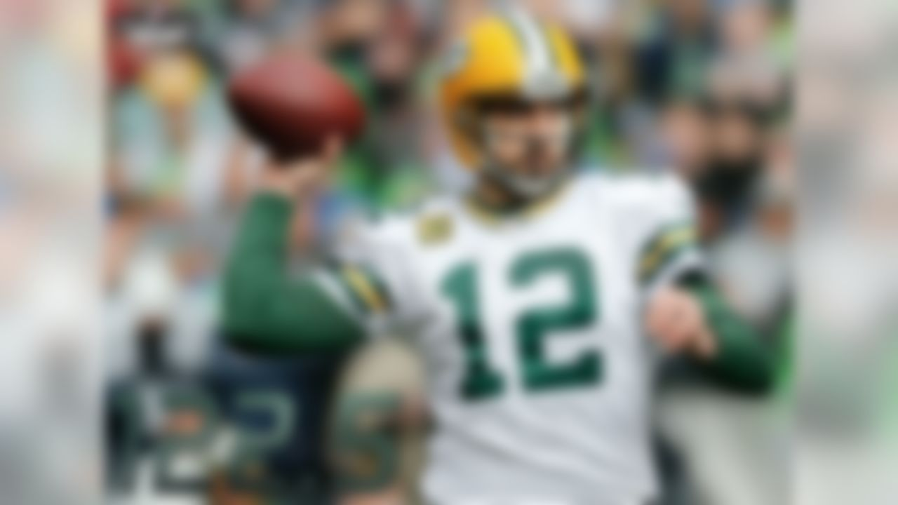 In the 2010 season, Aaron Rodgers brought Green Bay its first Lombardi trophy since 1996, when Brett Favre's Packers defeated the Patriots 35-21. Then in 2011, Rodgers led the Packers to their best regular season ever (15-1), took home the MVP, and set the NFL record for the highest passer rating in a single season - 122.5. Rodgers has both the highest career passer rating (106.0) and the lowest interception percentage (1.6 percent) in NFL history.