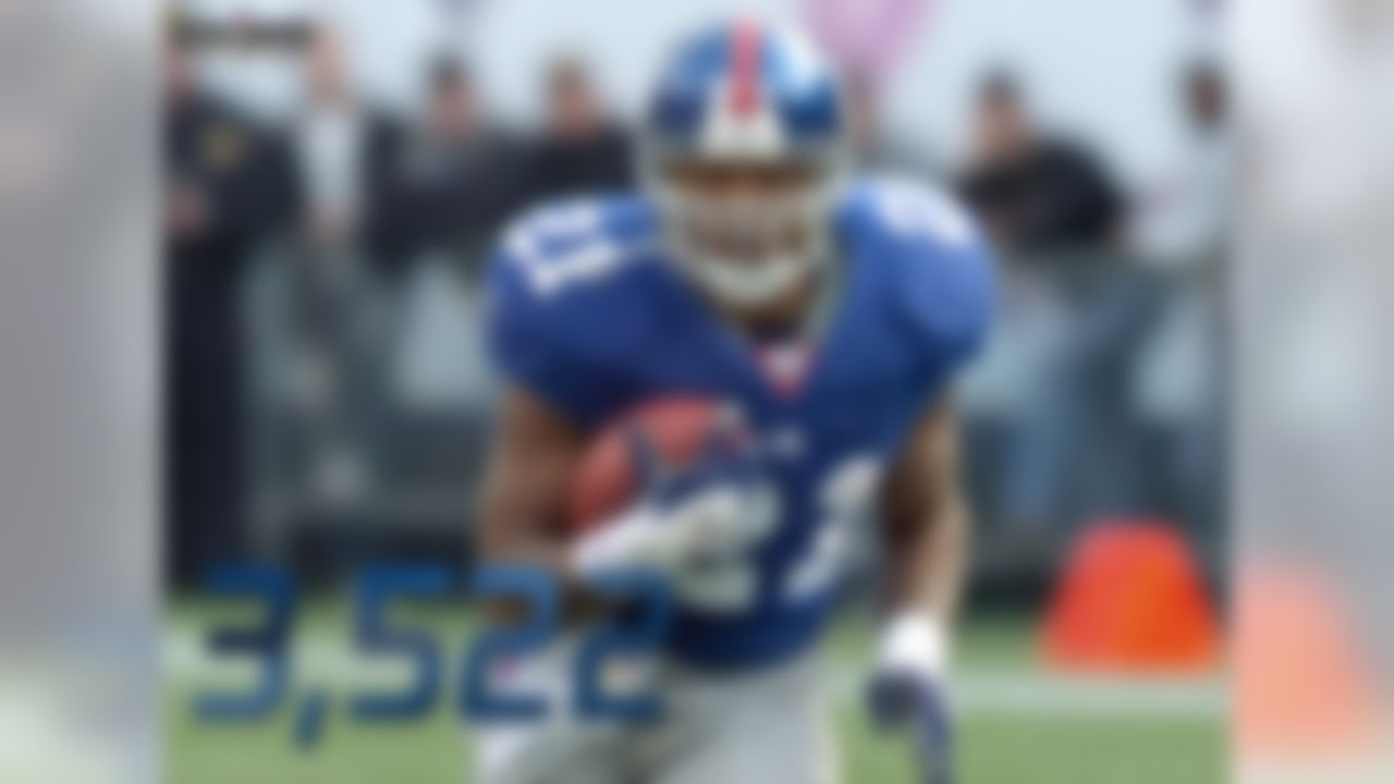 Tiki Barber rushed for 3,522 yards in his final two NFL seasons. Barber rushed for 1,860 yards in 2005 and 1,662 yards in 2006 before promptly retiring. The Giants won the Super Bowl without him following the 2007 season, with Brandon Jacobs leading the team in rushing (1,009 yards). Barber is the Giants' all-time leading rusher with 10,449 career rushing yards. His totals from his final two seasons alone would put him 9th on the franchise's rushing list, just behind Hall of Famer Frank Gifford (3,609 yards). During the 2005 and 2006 seasons, only Larry Johnson rushed for more yards than Barber (3,539 to 3,522).