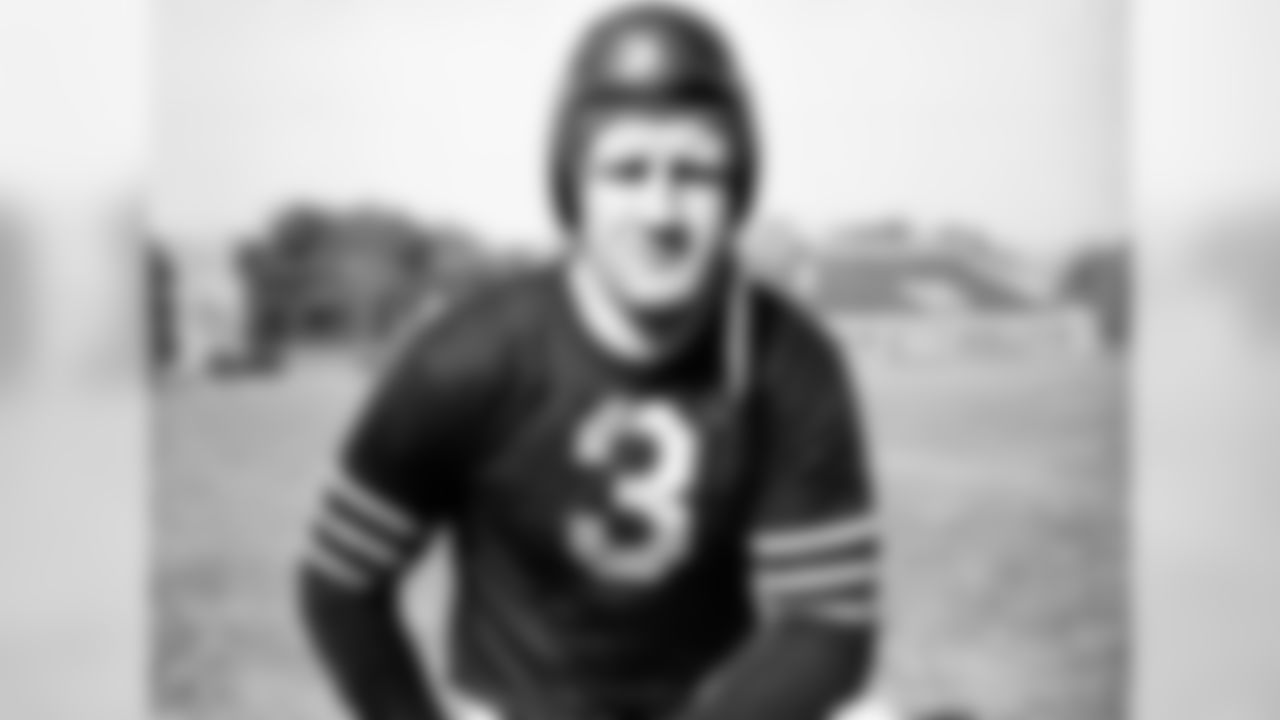 Nagurski developed his rugged reputation as a devastating fullback for George Halas' mighty Bears outfits of the pre-World War II era, but he also was a bone-crushing linebacker. Playing in an era when pro gridders were required to perform on both offense and defense, Nagurski excelled at both. Nagurski was a part of four Bears teams that played for the NFL championship -- winning two of those games -- and was a 1963 inductee into the Pro Football Hall of Fame.