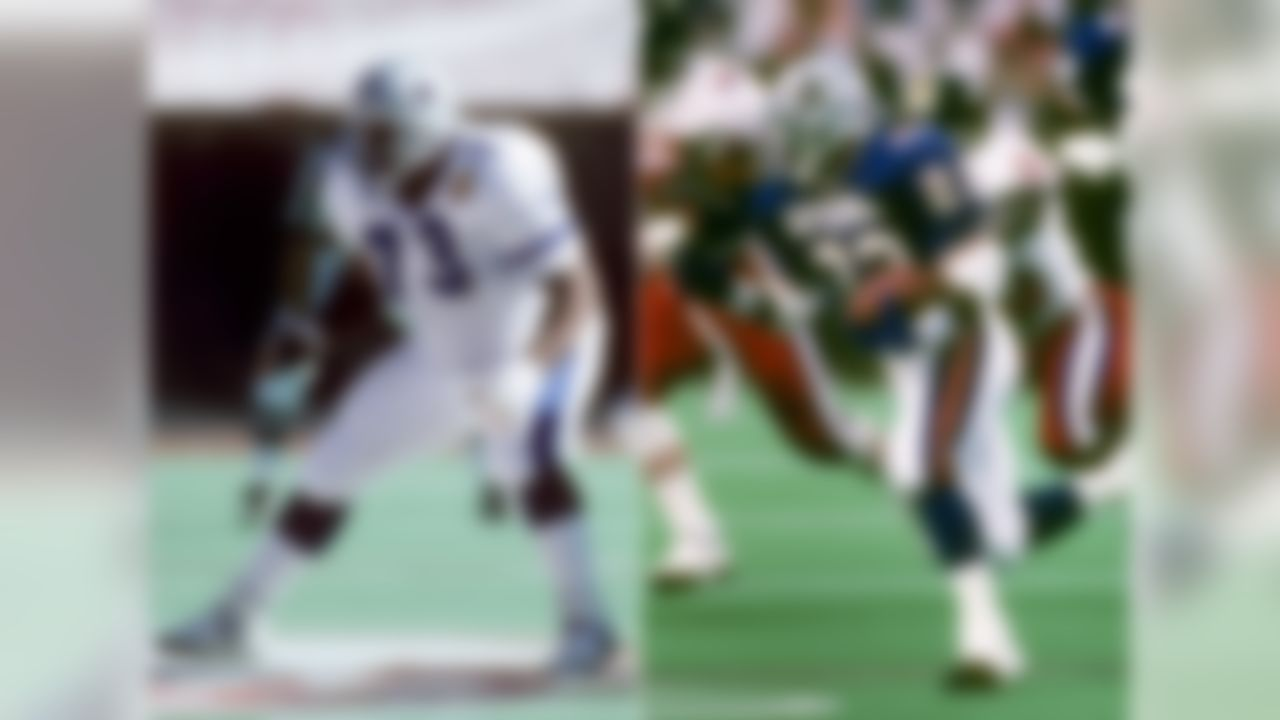 Larry Allen made 11 Pro Bowls in his career, 10 of which came with the Dallas Cowboys. Only Emmitt Smith (11) represented the Cowboys more in Honolulu. Allen is one of seven offensive linemen to be selected to the Pro Bowl at two different positions during his career. He joins Chris Hinton and Kent Hill as the only players to be selected at both guard and tackle.