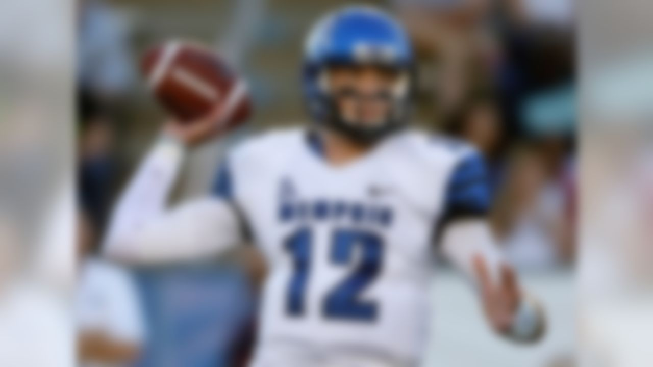 Standing 6-foot-7 and weighing in at 230 pounds, Lynch has the body to put some oomph into his throws. His strong arm is a big reason why he's re-writing school record books, and his passing helped guide Memphis to a share of its first conference title in more than 40 years. While he does a good job of dialing things back on short and intermediate throws, Lynch can certainly sling it if need be.