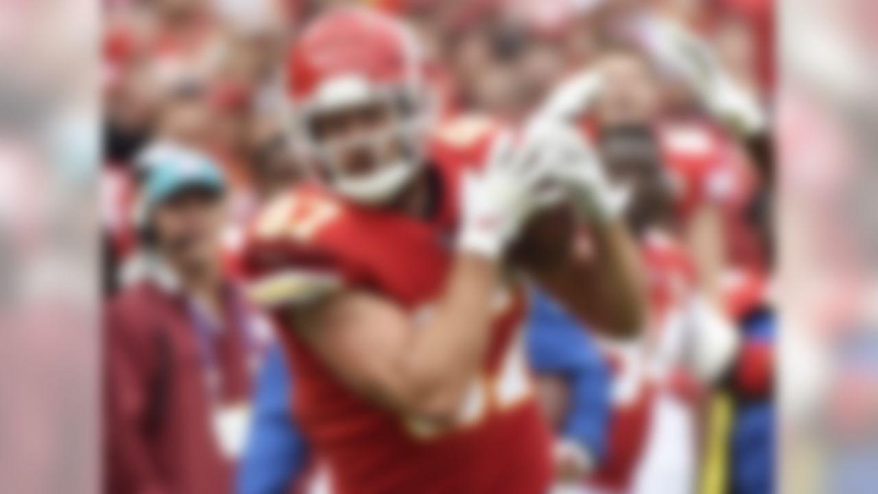 10. Travis Kelce, TE, Kansas City Chiefs – 103 receptions