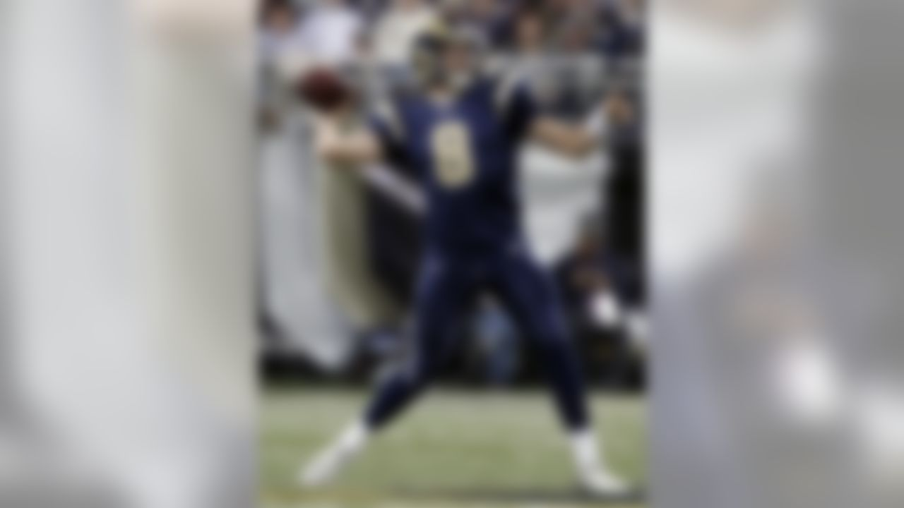 St. Louis Rams QB Sam Bradford is available in 69 percent of NFL.com leagues. (AP Photo/Jeff Roberson)