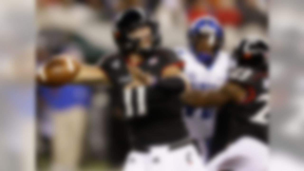 The particulars: 6-foot-4, 215 pounds, junior  Kiel's vagabond college football existence finally found a comfortable home in Cincinnati, where he can help lead the Bearcats to the American Athletic Conference title in 2015. Until Johnny Goldenarm comes around, Gunner is about as good a name for a quarterback as there could be. Also considered was Utah State's Chuckie Keeton.