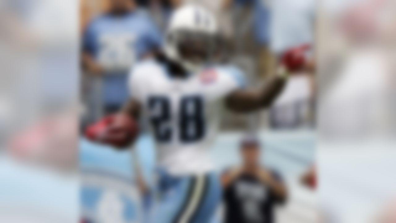 Chris Johnson ran for 197 yards and three touchdowns vs. the Texans.(AP Photo/Wade Payne)