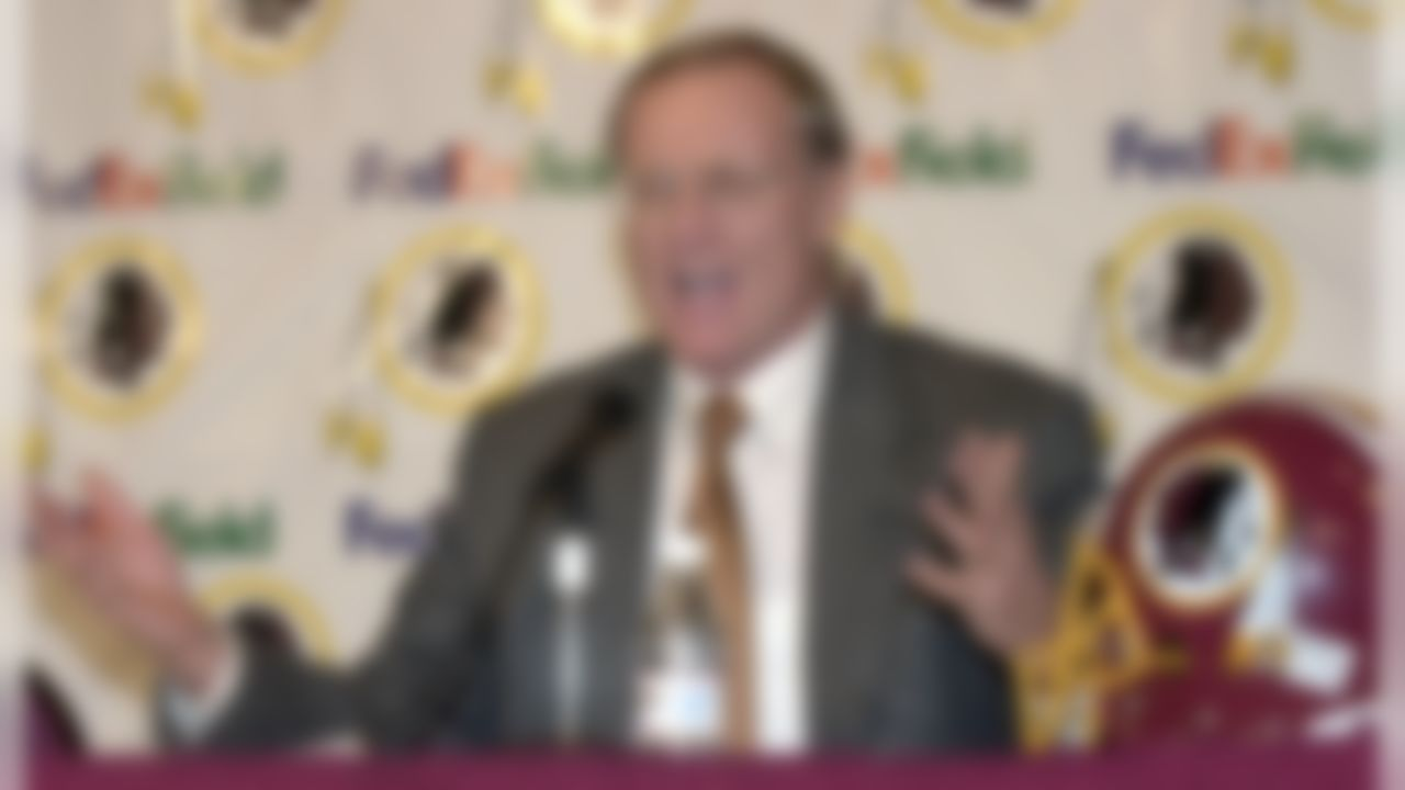 Washington Redskin's new head coach Marty Schottenheimer speaks at a news conference at Redskins Park in Ashburn, Va., on Thursday, Jan. 4, 2001. (AP Photo/Stephen J. Boitano)