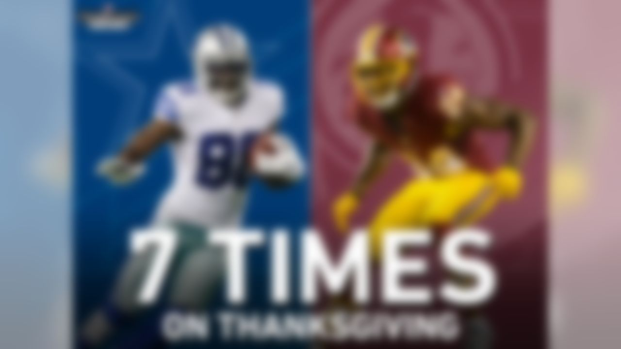 The Redskins and Cowboys have played 7 times on Thanksgiving, making Washington the Cowboys� most frequent Thanksgiving opponent in the Super Bowl era. Dallas has won 6 of those 7 meetings, losing only their most recent tilt in 2012, when Robert Griffin III had 304 passing yards and 4 touchdowns.