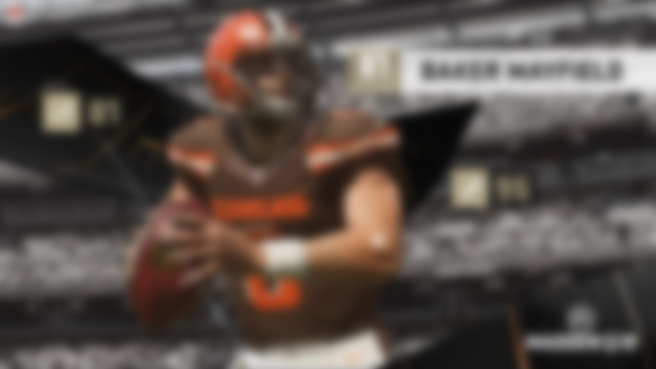 No. 1: Baker Mayfield, Cleveland Browns - 81 OVR No. 2: Lamar Jackson, Baltimore Ravens - 79 OVR No. 3: Josh Rosen, Arizona Cardinals - 78 OVR No. 4: Sam Darnold, New York Jets - 75 OVR No. 5: Josh Allen, Buffalo Bills - 74 OVR  See how Madden came up with the ratings