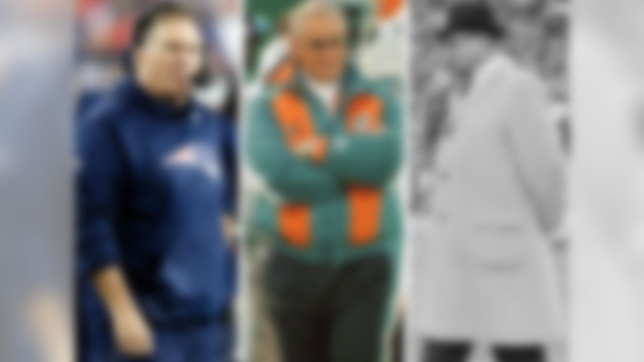 Bill Belichick has won five conference championships as a head coach, tied with Tom Landry for the second most in the Super Bowl era (since 1966). The only head coach to bring his team to the Super Bowl more often is Don Shula (6). Bill Belichick has the third-best winning percentage of any coach in postseason history to have coached at least 10 postseason games. A win Sunday in the AFC Championship Game will move him past Raiders coach Tom Flores into second place all-time, behind only the legendary Vince Lombardi.