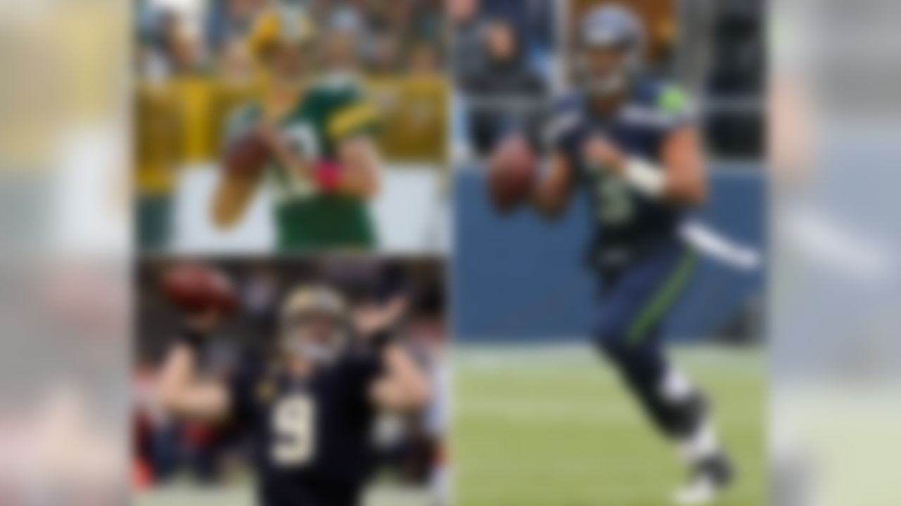 Seahawks QB Russell Wilson has thrown a game-winning TD pass in the final two minutes of regulation or OT three times this season, the most ever by a rookie since at least the 1970 merger. With 11 TDs and no interceptions in Seattle, Wilson has the NFL's highest passer rating (122.0) at home this season. He is on pace for the third-best single-season passer rating at home in NFL history, which would place him behind Aaron Rodgers and Drew Brees, but in front of Peyton Manning, Kurt Warner, Steve Young and John Elway in the record books.