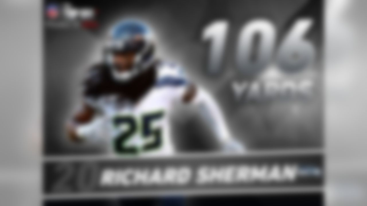 Is Richard Sherman the best cornerback in the NFL? It's hard to argue with the numbers. Since Sherman entered the NFL in 2011, he has the most interceptions (26) and passes defensed (79) among all players. And it's not like he's facing easy competition.  Last season Sherman matched-up against notable receivers Calvin Johnson, A.J. Green, Dez Bryant and Antonio Brown. When in coverage against those four, Sherman held them to 106 yards combined and didn't allow a single touchdown.