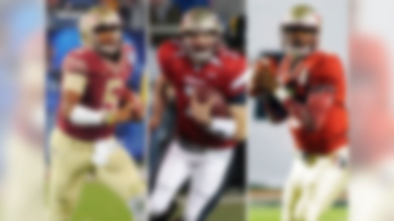 When Jameis Winston is selected in the first round, Florida State will be the first school to have three quarterbacks drafted in Round 1 in a five-year span. Christian Ponder was selected 12th overall by the Minnesota Vikings in 2011, and EJ Manuel went 16th overall to the Buffalo Bills in 2013.
