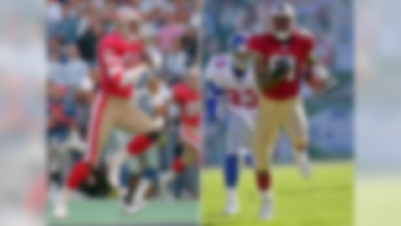 With 22,895 yards to his credit, Jerry Rice is the NFL's all-time receiving leader. But his lead on the rest of the field is staggering: The man in second place, Terrell Owens, could match his own career-best season output another four times and still come up short of Rice's total. And Owens played in the NFL until he was 37-years-old. Sorry T.O., those Allen Wranglers numbers don't count.
