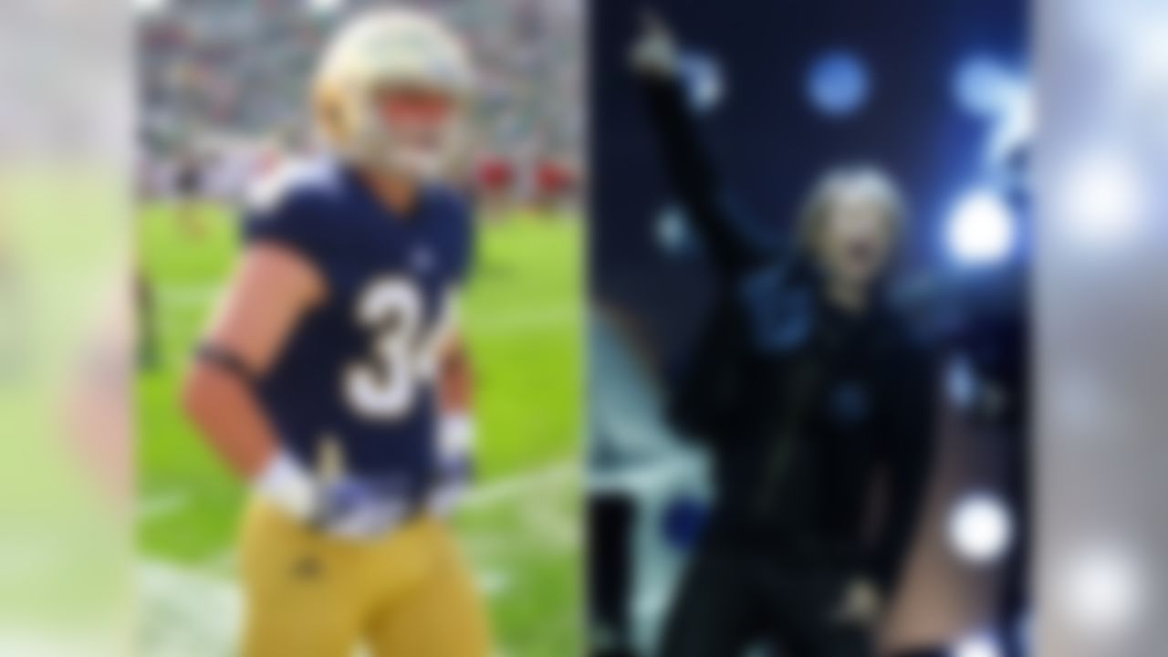 His dad: Musician Jon Bon Jovi. The buzz: Jesse (5-foot-9, 183 pounds) is a sophomore walk-on who could see time on special teams. He played football and lacrosse in high school. While his dad is a Jersey guy, Jesse attended high school in Brooklyn. Jesse's full name is Jesse James Louis Bongiovi.