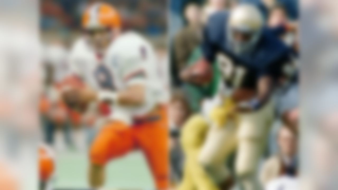 The winner: Notre Dame WR Tim Brown The skinny: Brown caught 39 passes for 846 yards and three TDs, ran for 144 yards and a TD and had 857 return yards and three touchdowns. Those aren't Heisman numbers. McPherson threw for 2,341 yards and 22 TDs, rushed for 230 yards and five scores and also caught a TD pass in helping Syracuse finish 11-0-1. He was second in the voting.