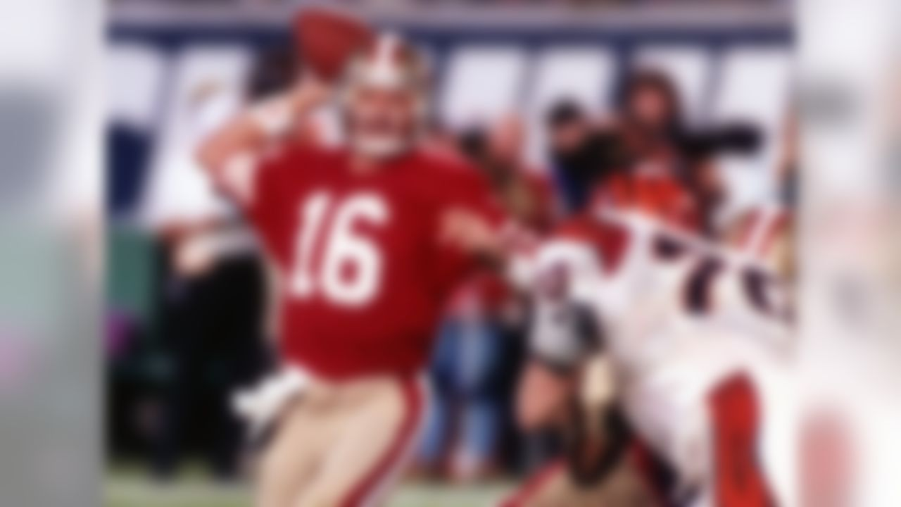 Montana was a four-time Super Bowl winner (XVI, XIX, XXIII, XXIV) and a three-time Super Bowl MVP (XVI, XIX, XXIV). In those four games, Montana threw for 11 touchdowns without an interception. The most famous of those touchdown passes is the game-winning score to receiver John Taylor in Super Bowl XXIII.