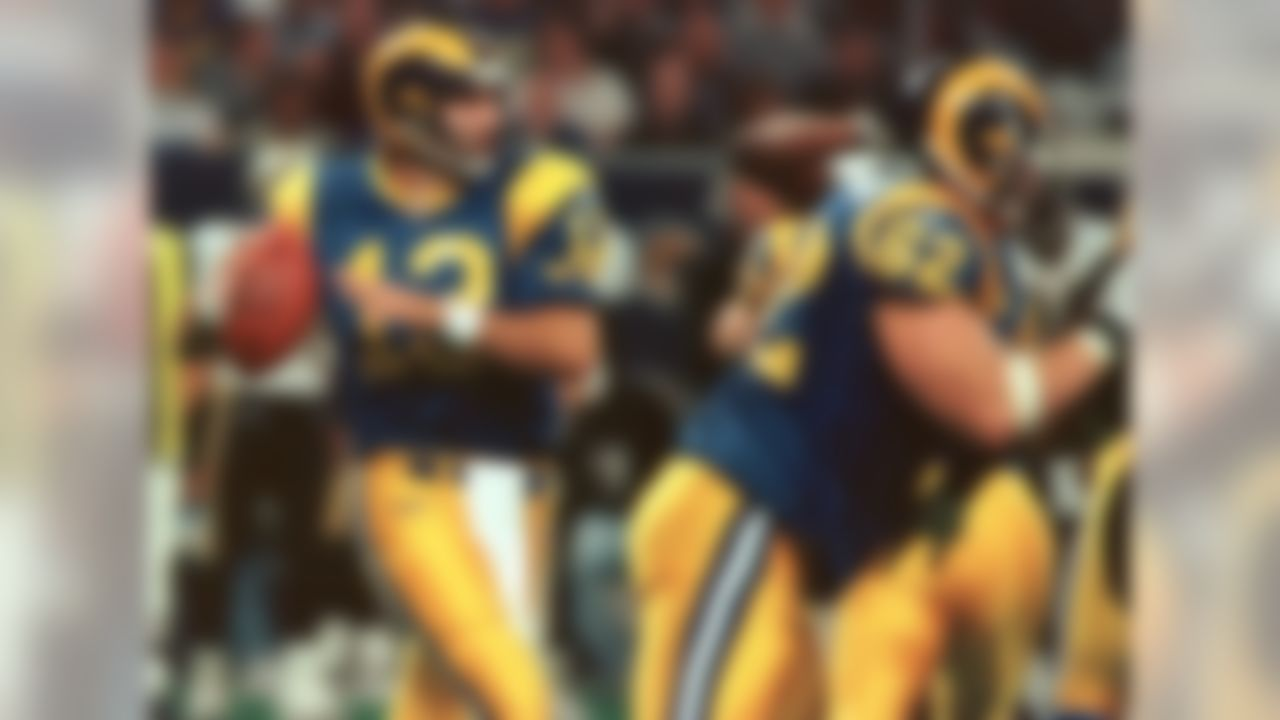 """School: Northern Iowa  Pro Football Hall of Famer Warren Moon also went undrafted out of the University of Washington. However, Warner -- who figures to join Moon in Canton sometime soon -- is the choice here. Warner's rise from Hy-Vee stock boy to Super Bowl MVP is well-documented. Warner directed the Rams' explosive """"Greatest Show on Turf"""" offense to two Super Bowl appearances, including victory in Super Bowl XXXIV over the Tennessee Titans."""