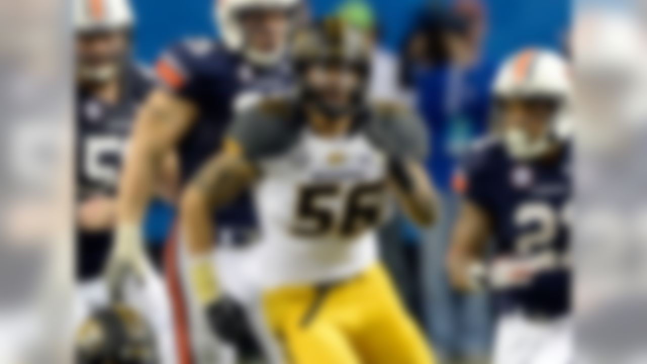 Particulars: 6-3, 245, junior Buzz: Mizzou is looking to replace two starting defensive ends (Kony Ealy and Michael Sam) who were NFL draft picks, but going by sheer athleticism, Ray will be up to the task. Ray had 4.5 sacks in a reserve role last season and sealed Mizzou's win over Oklahoma State in the Cotton Bowl with a fourth-quarter TD on a fumble return. Fours are wild with Ray: He is said to run a 4.44 in the 40, has a vertical jump of 42 inches and bench-presses 430 pounds.