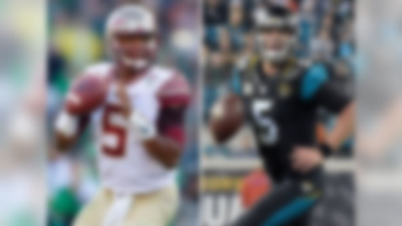 Winston checked in a little shorter than Bortles but is similarly a big guy who is hard to bring down. The Florida State quarterback's hand size (9 3/8 inches) was on the smaller side compared to some of his peers in this draft, but isn't far off the league average. Ben Roethlisberger is an apt comparison for Winston, but Bortles makes a lot of sense, too.