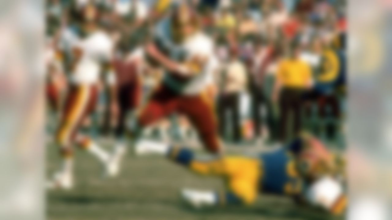 Coming off back-to-back 1,000-yard seasons, Riggins sat out the entire 1980 season before new Washington Redskins coach Joe Gibbs convinced him to return in '81. Even though he found the end zone 13 times, Riggins needed another two seasons before crack the 1,000-yard barrier again in 1983.