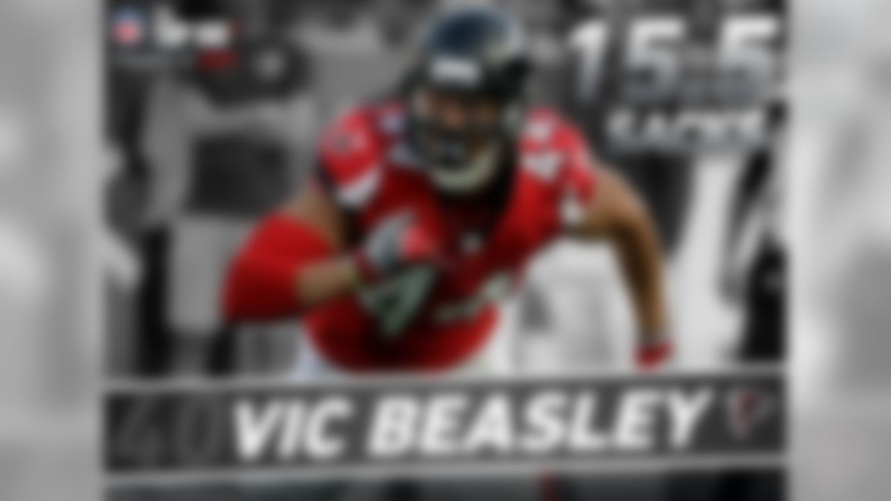 In 2016, Vic Beasley became the first Falcons player to lead the NFL in sacks with 15.5, and the fourth player in NFL history to lead the league in sacks and reach the Super Bowl in the same season. Out of the four, Beasley was the only one to lose in the Super Bowl.